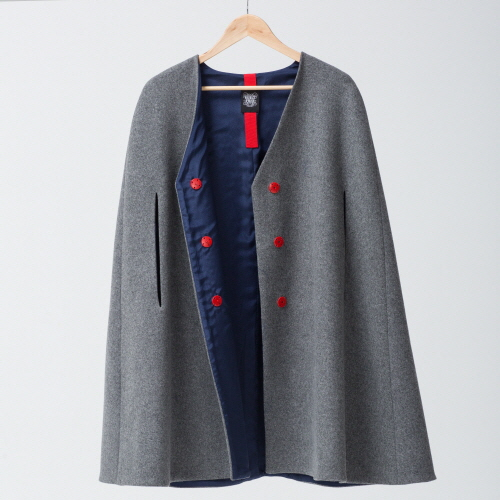 16_GRAY WOOL CAPE (only cape)